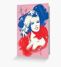 B. B. - Pop Art Fashion Icons Greeting Card