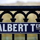 Albert Terrace Sign, Saltaire, Yorkshire by Lorne  Campbell