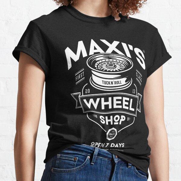 Maxi's Wheel Shop [White Mono] Classic T-Shirt