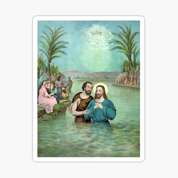The Baptism of Jesus Christ - 1893 Sticker