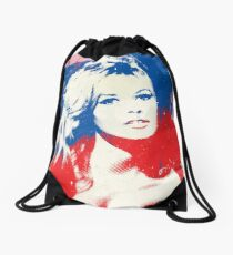 B. B. - Pop Art Fashion Icons Drawstring Bag
