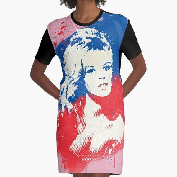 B. B. - Pop Art Fashion Icons Graphic T-Shirt Dress