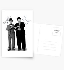 Laurel and Hardy Signature Postcards