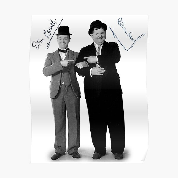 Laurel and Hardy Signature Poster