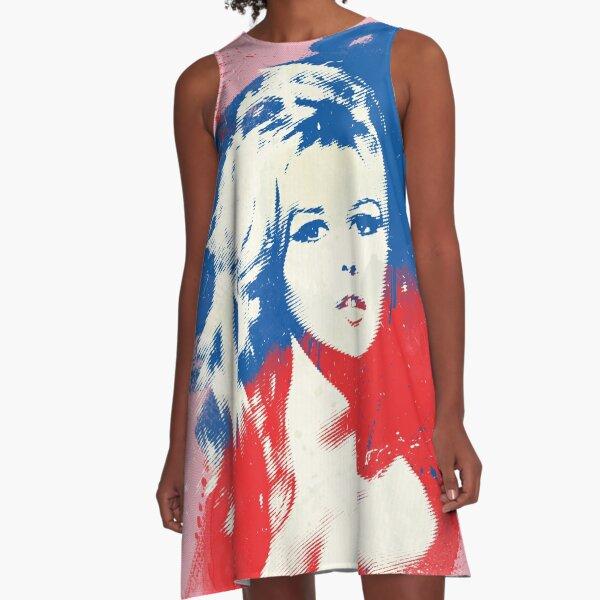 B. B. - Pop Art Fashion Icons A-Line Dress