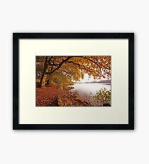 Autumn Pool Framed Print