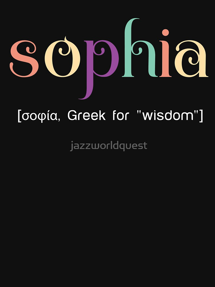 Colorful gift for Sophia by jazzworldquest