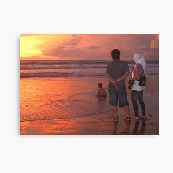 Enjoying a Balinese sunset Canvas Print