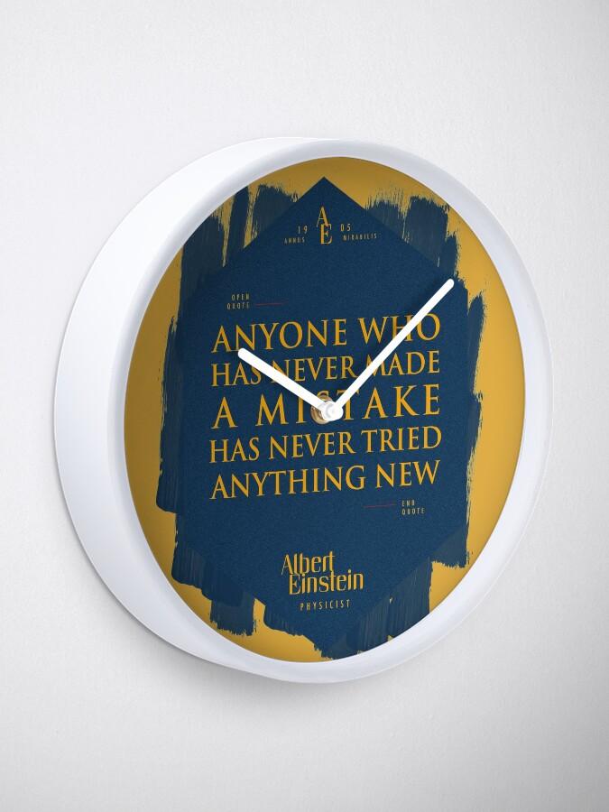 Vista alternativa de Reloj Cita de: Albert Einstein sobre errores - Camisetas, pósters, pegatinas y regalos