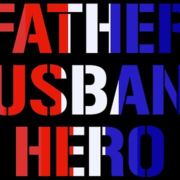 Father Husband Hero Police Officer Dad T-shirt by zcecmza