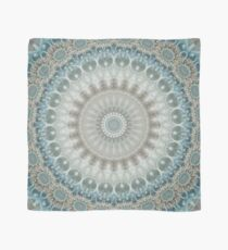 Dreamy Grey, Blue and Ivory Mandala Scarf