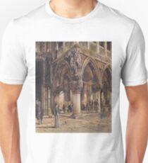 View of the Ducal Palace in Venice( Blick auf den Dogenpalast in Venedig)-Rudolf von Alt Unisex T-Shirt