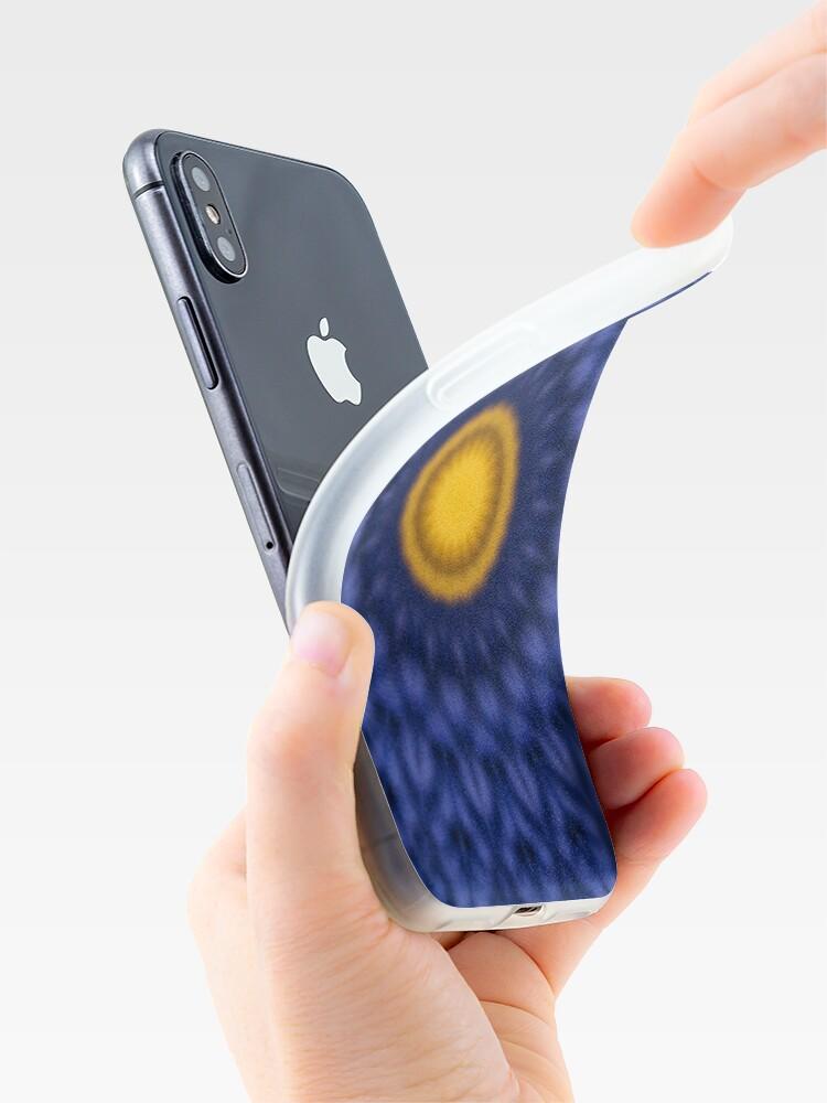 Alternative Ansicht von Ente auf Blau Kaleidoskop iPhone-Hüllen & Cover