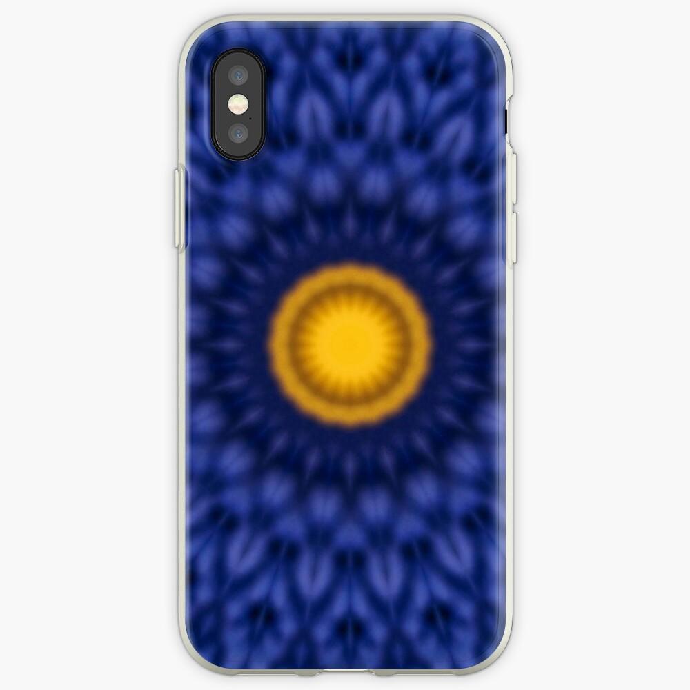 Ente auf Blau Kaleidoskop iPhone-Hüllen & Cover