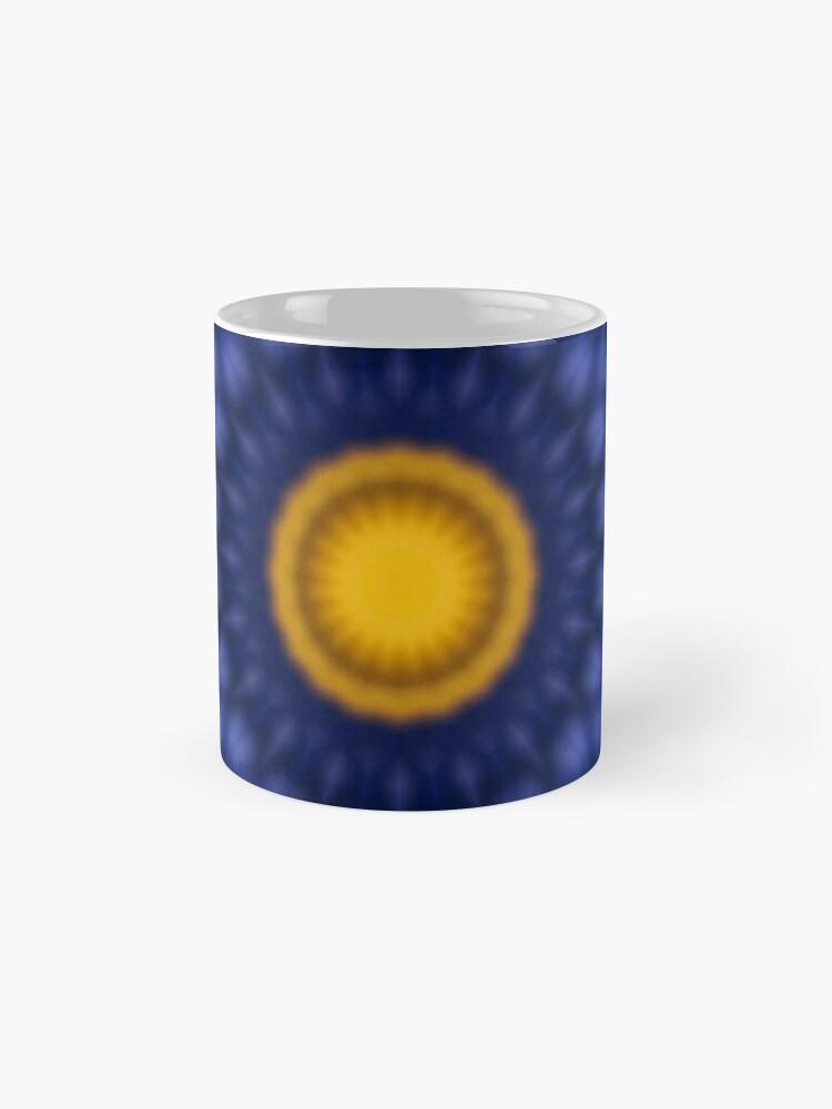 Alternative Ansicht von Ente auf Blau Kaleidoskop Tassen