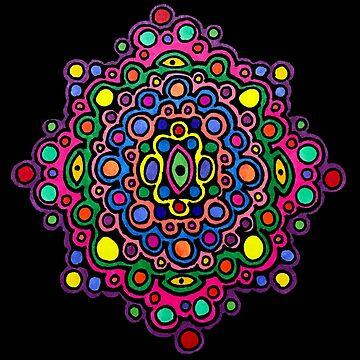 Mandala of Colorful Circles by gorff