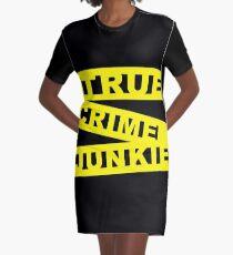 True Crime Junkie - Crime Scene Tape - Police Line Graphic T-Shirt Dress