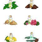 Sticker Set - Essential Oil Collection by pixelmist