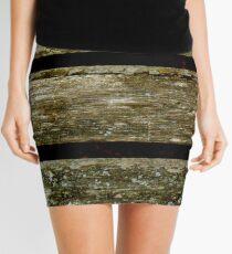 Wooden Slats Mini Skirt