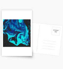 Ice Veins Abstract Paint Postcards