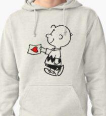 Charlie Brown in love Pullover Hoodie