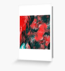 Molten Abstract Oil Paint Greeting Card