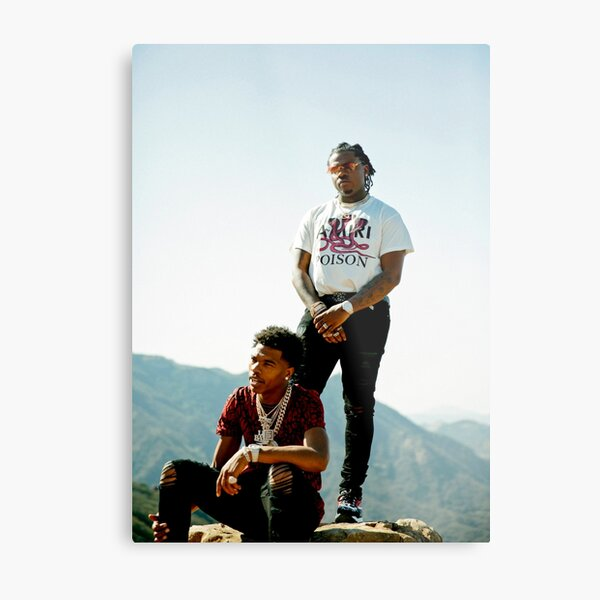 Lil Baby and Gunna Metal Print