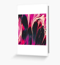 Lava Abstract Fuel Greeting Card