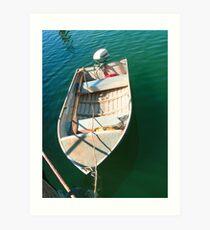 Brunswick Heads Harbour River Boat  Art Print