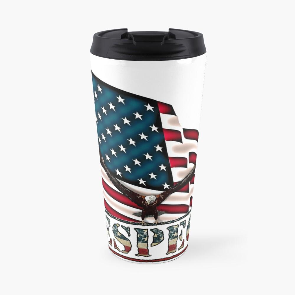 Patriotic Respect w/Eagle & USA Flag Travel Mug