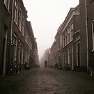 Cyclist In The Mist by Pepijn Sauer