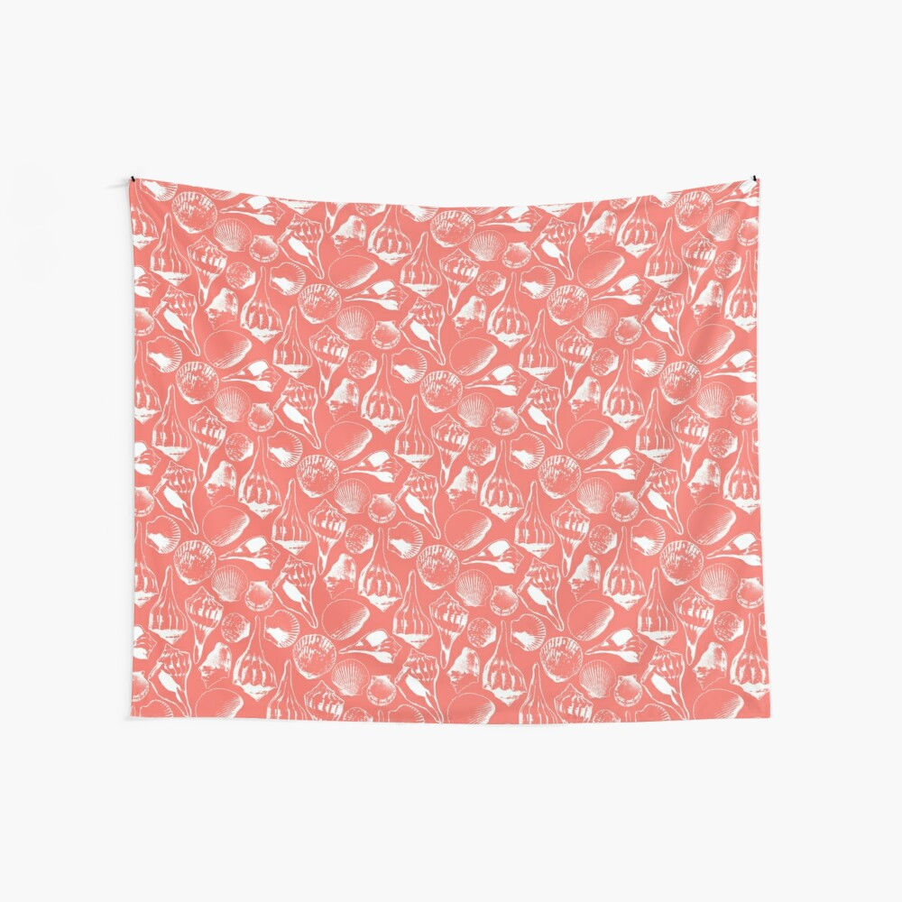 Coral Marco Shells Wall Tapestry