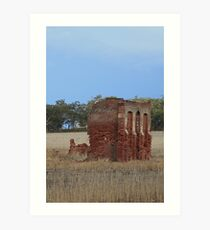 Wheatbelt Ruins Art Print