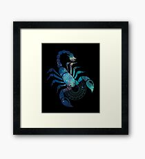 Graphic illustration of the zodiac sign Scorpio Framed Print