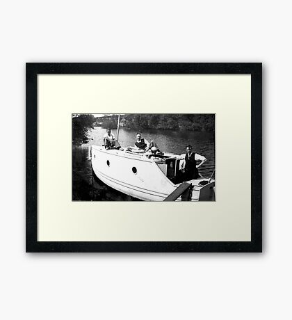Boating on the River Ouse-York -1940's Framed Print