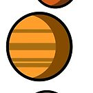 Colored Solar System  by Shayli Kipnis
