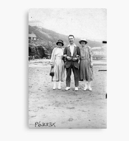 On The Beach - Scarborough  1930's. Canvas Print