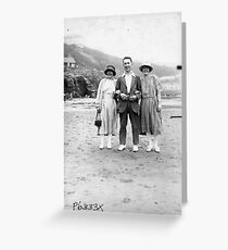 On The Beach - Scarborough  1930's. Greeting Card