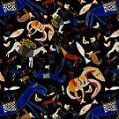 Wild Folk Menagerie - Black by trelilli