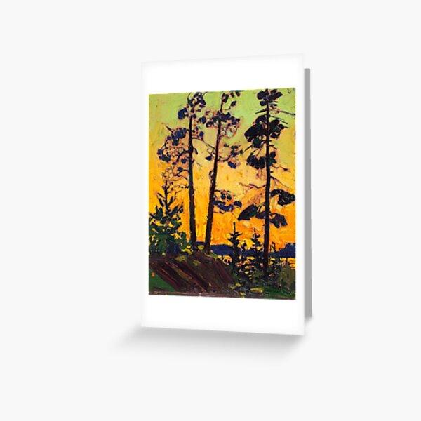 Tom Thomson - Pine Trees at Sunset - 1915 Greeting Card
