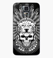 Funda/vinilo para Samsung Galaxy Calavera de guerrero jaguar azteca - Tocado nativo