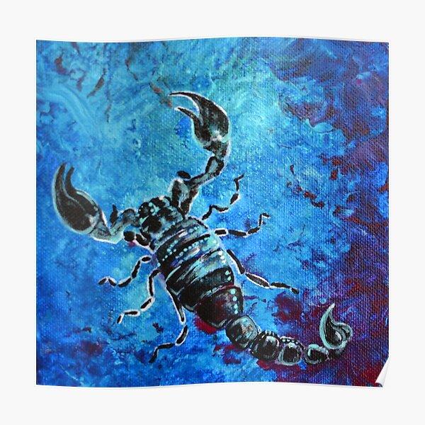 Scorpius - black and blue scorpion  Poster