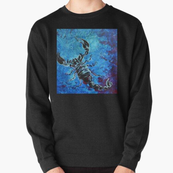 Scorpius - black and blue scorpion  Pullover Sweatshirt
