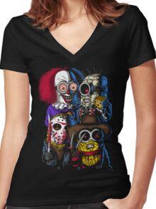 Mini Evil Parody Women's Fitted V-Neck T-Shirt