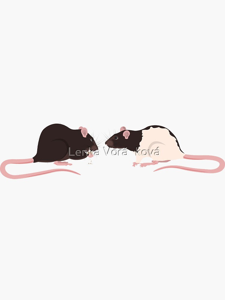 Brown Rattie with Hooded Rattie by Trin4ever