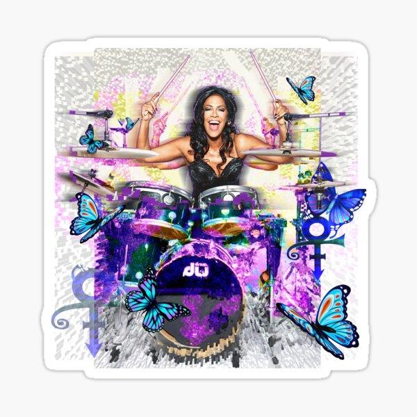 Sheila E. drummer - Prince drum woman - digital art by IonaArtDigital Sticker