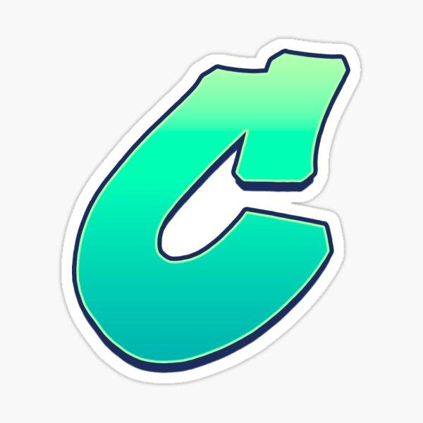 C - green fades Sticker