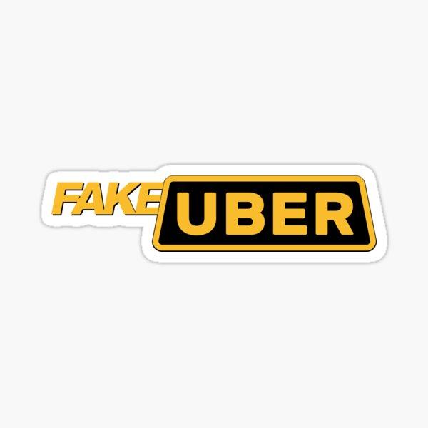 FAKE UBER - Fake Taxi Sticker