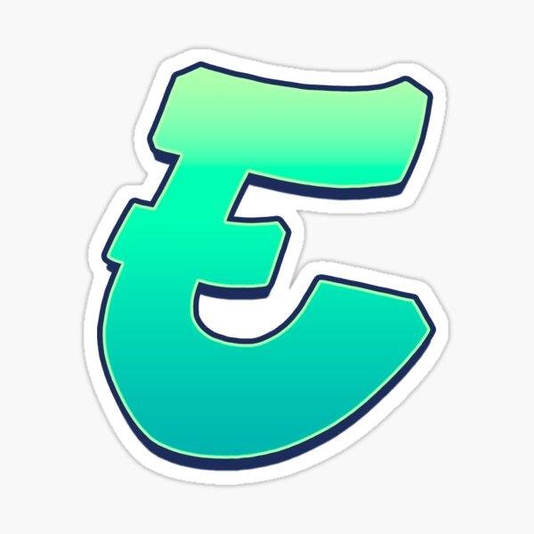 E - green fades Sticker