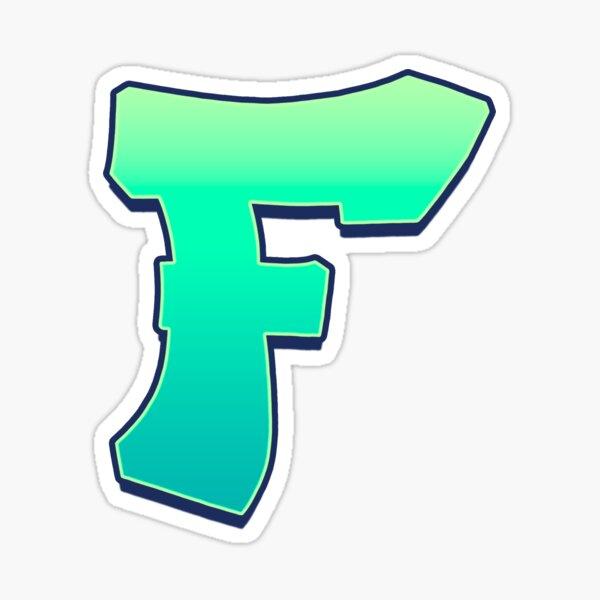 F - green fades Sticker